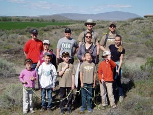 Cub scout trail marking crew